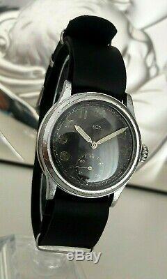 Vintage Ww2 Wristwatch Armée Allemande Wehrmacht Recta De La Période Seconde Guerre Mondiale. Militaire