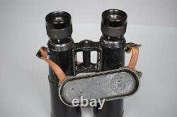 Vintage Wwii Allemand 10x50 Dienstglas Panzer Jumelles Bmj Hensoldt Wetzlar Ww2
