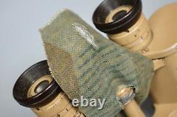 Vintage Wwii Allemand 6x30 Dienstglas Jumelles DDX Voigtlander Tan