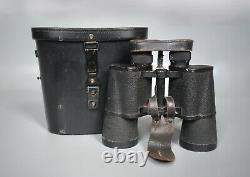 Vintage Wwii Allemand 7x50 Dienstglas Bmk Srb & Stys Complete Set + Accessoires