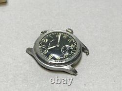 Vintage-sport Wristwatch Dh Revue Armée Allemande Militaire Montre Ww 2 Wehrmacht