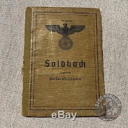 Wehrmacht Allemande Originale Heer Ww2 Armée Soldbuch Pour Lieutenant-colonel