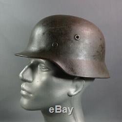 Wehrmacht Armée Allemande Allemagne Seconde Guerre Mondiale M40 Acier Combat Casque Q64 Linéaire Authentique