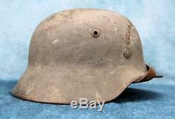 Wehrmacht Seconde Guerre Mondiale Allemand Casque De Combat Heer Camouflage Camo Armée Américaine Soldat Capture