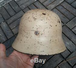Ww II Allemand Dak Akrika Korps Stahlhelm Casque Wehrmacht M40 Heer Armée Militaire