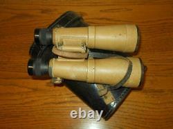 Ww II Armée Allemande 10x50 Hensoldt Bmj Panzer Roof Prism Binoculars & Cas Rare