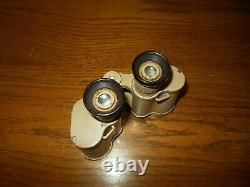 Ww II Armée Allemande Air Force Dak 6x30 DDX Tan Binoculars & Case Very Nice