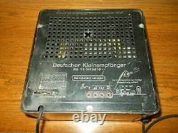 Ww II Armée Allemande Force Aérienne Kleinempfänger Dke 38 Radio Populaire #3 Nice