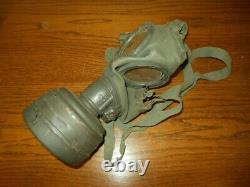 Ww II Armée Allemande Force Aérienne M30 Gas Mask & Canister Named Nice