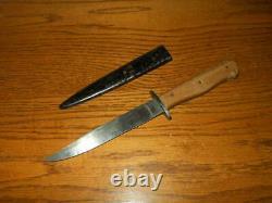 Ww II Armée Allemande Nahkampfmesser Combat Boot Knife / Trench Knife Very Nice