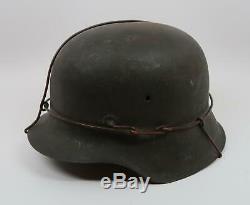Ww2 Acier Allemand M42 Casque Wehrmacht Ww1 Heer Luftwaffe Armée Américaine Souvenir De Combat