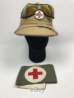 Ww2 Afrika Korps Medic Moelle Casque Et Médical Armée Allemande Armband