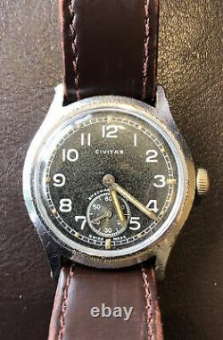 Ww2 Allemagne Army Wrist Watch Civitas 15 Mouvement Jewel D H Désignation Suisse
