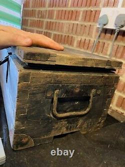 Ww2 Allemand Army Lead Lined 2cm Ammo Box Joliment Marqué
