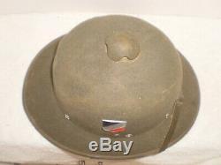 Ww2 Allemand Dak Afrika Casque Colonial De L'armée, 1942, Taille 57, Orig