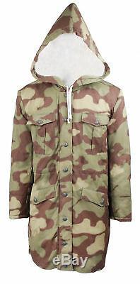 Ww2 Allemand Elite Armée Italienne Camo Fourrée Manteau D'hiver Taille XXL Parka