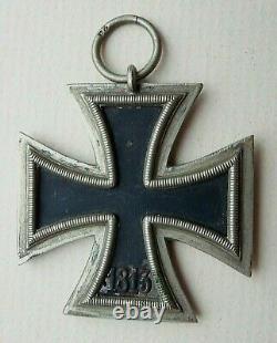 Ww2 Allemand Iron Cross 2ème Classe Maker Marqué 24 Croix Originale Et Authentique