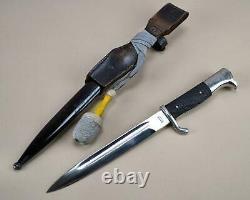 Ww2 Allemand K98 Robe Baïonnette Luftwaffe Domaine Army Grenouille En Cuir Heer Couteau Épée