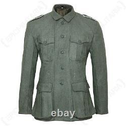 Ww2 Allemand M40 Field Grey Laine Tunic Repro Veste Armée Toutes Les Tailles Nouveau