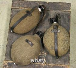 Ww2 Allemand Metal Aluminium Canteens Army Drinking Set Of 3 Wehrmacht Waffen