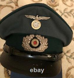 Ww2 Allemand Original Ncos Visor Cap