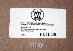 Ww2 Allemand Panzer Lunettes De Moto Aviateur Vintage Conduite Wehrmacht New Seconde Guerre Mondiale