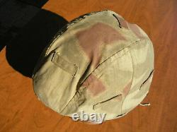 Ww2 Allemand Réversible Camouflage Casque Cover For Army & Elite Wwii Units Orig