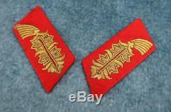 Ww2 Allemande Onglet Général Cols Veste Tunique Uniforme Badge Première Guerre Mondiale Heer Armée Wehrmacht