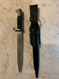 Ww2 Allemande Robe Courte Baïonnette K98 Seconde Guerre Mondiale Armée Couteau Dague Richard Ab Herder