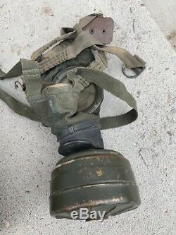 Ww2 Armée Allemande De Gaz Masque Et Can Original. Normandie Camo