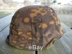 Ww2 Armée Allemande Elite Uniforme Casque Couverture Réversible Camo Camouflage Seconde Guerre Mondiale
