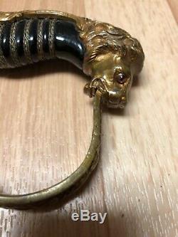 Ww2 Armée Allemande Épée Avec Lions Head
