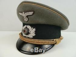 Ww2 Armée Allemande Uniforme Généraux Chapeau D'administration Nommé Taille 57