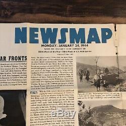 Ww2 Armée Allemande Uniforme Poster Newsmap Janvier 1944 Armée Orientation Affiche Originale