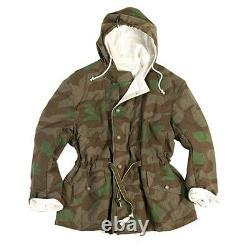 Ww2 Armée Allemande Wh Réversible Splintertarn & White Camo Jacket Wwii Repro Nouveau