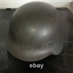 Ww2 Casque Allemand M42 Original Size 68 Shell
