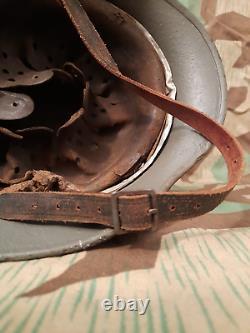Ww2 Casque Allemand Original M40, Sd, Coque Originale, Doublure