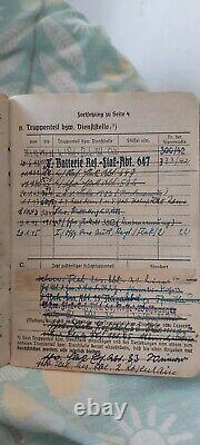Ww2 Document Allemand Groupe Photo De 1 Officier, Monte Cassino, Dunkerque, Soldbuch