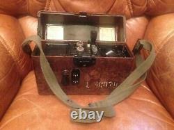 Ww2 German Army Field Telephone, Daté De 1940, Bakelite, Wehrmacht Avec Casque Américain