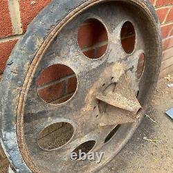 Ww2 German Army Sdkfz 251 Half Track Wheel Original Normandy Barn Trouver