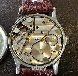 Ww2 German Army Wrist Watch Helma 15 Jewel Movement D H Désignation Suisse