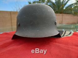 Ww2 M42 Armée Allemande, La Seconde Guerre Mondiale Casques Authentique, Withgoggles