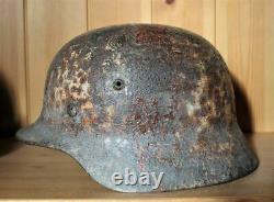 Ww2 Original Allemand M40 Medic Casque Semi Relic Rare