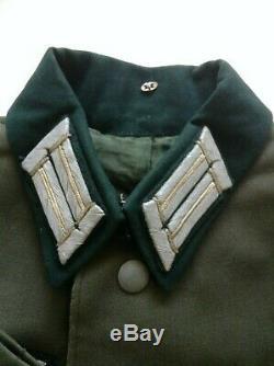 Ww2 Originale Allemande Armée Uniforme Infanterie Lieutenants Service Robe Tunique