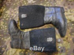 Ww2 Originale Armée Allemande Des Troupes D'élite Luftwaffe Hiver Est Bottes Avant Jack