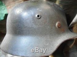 Ww2 Originale Armée Allemande Heer M40 M 40 Sd Se64 American Helmet Vet Retour Apporter
