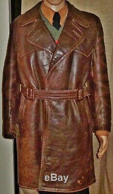 Ww2 Originale Armée Allemande Pardessus Luftwaffe Greatcoat Elite Trench Coat Uniforme