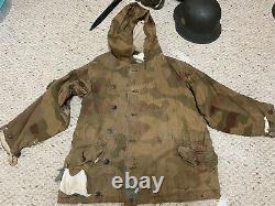 Ww2 Originale Armée Allemande Réversible Hiver Parka -sumpfmuster Motif (1943-1945)
