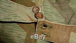 Ww2 Originale Armée Allemande Splinter Camo Elite Uniforme Chapeau Vintage Antique