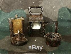 Ww2 Originale / Seconde Guerre Mondiale Relic Armée Allemande Multipurpose Bakélite Carbure Lanterne